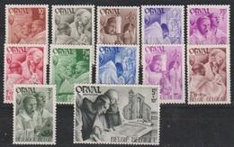 Belgique - 1941 - * - COB 556 à 67  - Série Complète  - Orval - - Belgique