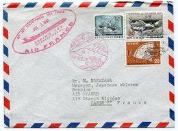 RC 12494 FRANCE 1961 LETTRE 1er VOL TOKYO JAPON PARIS PAR AIR FRANCE FFC - Poste Aérienne