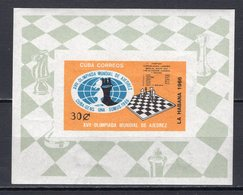 CUBA - 1966 CHESS ON STAMPS    M955 - Chess