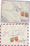 2 Lettres Franchise Militaire Avec Timbres Taxe 1956 - 1921-1960: Période Moderne