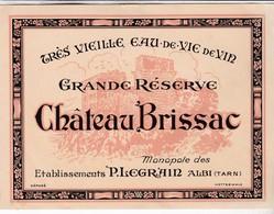 ALBI / LEGRAIN / TRES VIEILLE EAU DE VIE / RESERVE CHATEAU BRISSAC - Etiquettes