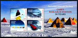 A.A.T. AUSTRALIAN ANTARCTIC TERRITORY 2019, CASEY RESEARCH STATION 50 YEARS Minisheet** - Territorio Antartico Australiano (AAT)