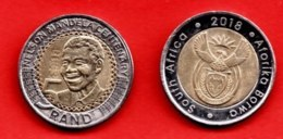 SOUTH AFRICA, 2018, VF Beautiful 5 Rand Coin, Nelson Mandela, Scannumber C1485 - Zuid-Afrika
