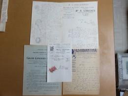 LOT 5 Vieux Papier Manuscrit 1890 - Concours De Musique 1924 - Facture 1941 - Courrier 1924 - MISE A PRIX 1€ ! Bonne Enc - Vieux Papiers