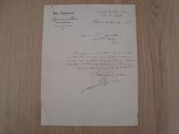 LETTRE BAL TABARIN LAJUNI ET BOSC PARIS 1908 - France