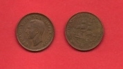 SOUTH AFRICA, 1942,  Circulated Coin, 1/2 Penny, George VI, Km 24, C1397 - Zuid-Afrika