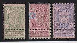 Belgique - 1894 - ** - COB 68 à 70 - Série - - 1893-1907 Wapenschild