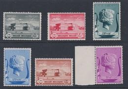 Belgique - 1940 - ** - COB 532 à 537 - Série  - - Nuevos