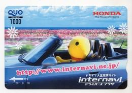 JAPON CARTE QUO PREPAYE HONDA - Publicité