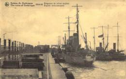Ruines De Zeebrugge The Ruins. 1914-18  Drageurs De Mines Anglais - English Mine-sweepers. - Guerre 1914-18