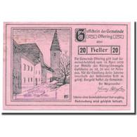 Billet, Autriche, Oftering, 20 Heller, Château, 1920, 1920-04-18, SPL - Autriche