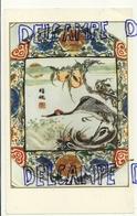 Reproduction D'une Céramique Chinoise. 18e Siècle. Grue Au Bord Du Lac - Vieux Papiers