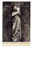 Cpa - 75 - PARIS - NOTRE DAME - Portail Nord - Détail - Statue Femme - ND 863 - - Notre Dame De Paris