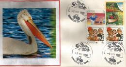 AUSTRALIE. Pelicans Sur Le Lake Albert . Meningie. (South Australia), Lettre Australie - Pélicans