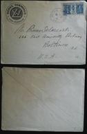 Tematiche Albergo Francia 1931 Busta Del Hotel Terminus Di Lione Per Baltimora (U.S.A) - Francia
