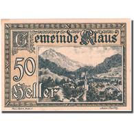 Billet, Autriche, Klaus, 50 Heller, Montagne 1920-03-27, SPL Mehl:FS 454Ia - Autriche