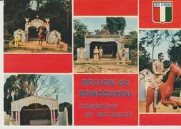 C.P. - PHOTO - COTE D'IVOIRE - TOMBEAU DES NOTABLES - RÉGION DE BONDOUKOU - 7496 - P. CHARETON - 4 VUES - Costa De Marfil