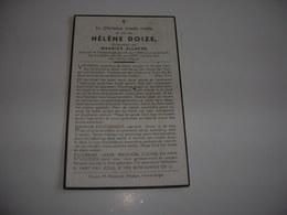 Hélène Doize (Vlamertinge 1905-Vlamertinge 1947);Allaeys - Devotieprenten