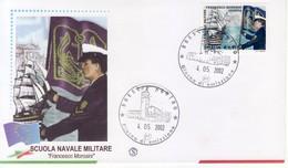 """2002 - FDC """" SCUOLA NAVALE MILITARE """" FILAGRANO VEDI++++ - F.D.C."""