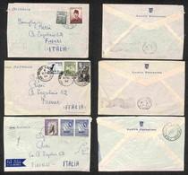 VARIE - DOCUMENTI - Navigazione - 1956 - Lotto Di 3 Buste Viaggiate Per Firenze Della Nave Australia - Da Esaminare - Non Classificati