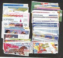 VARIE - DOCUMENTI - Lotterie Nazionali - 1978/2005 - Oltre 70 Biglietti (molti FDS) + 40 Cartoline Per Lo Più Nuove Del  - Non Classificati