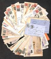 LOTTI E COLLEZIONI - Area Italiana - Storia Postale - 1863/1945 - Insieme Di 73 Buste E Cartoline Del Periodo - Interess - Non Classificati