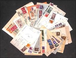 LOTTI E COLLEZIONI - Area Italiana - Storia Postale - 1945/1952 - 37 Buste E Cartoline Del Periodo (notate Affrancature  - Non Classificati
