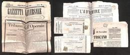 LOTTI E COLLEZIONI - Regno - Giornali - 1852/1892 - Sei Periodici Diversi (tre Affrancati) Del Periodo - Non Classificati