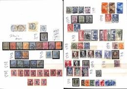 LOTTI E COLLEZIONI - Regno - 1861/1944 - Insieme Di Serie E Spezzature Usate Del Periodo Montate Su 4 Pagine Di Raccogli - Non Classificati