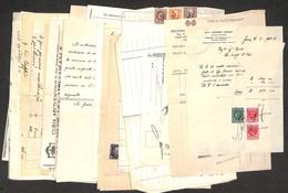 LOTTI E COLLEZIONI - Regno - Marche Da Bollo - 1921/1944 - Insieme Di 35 Quietanze E Ricevute Del Periodo Tutte Affranca - Non Classificati