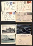 LOTTI E COLLEZIONI - Regno - 1924/1942 - Lotto Di 3 Cartoline E 1 Busta Con Affrancature Del Periodo - Da Esaminare - Non Classificati