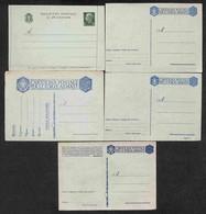 LOTTI E COLLEZIONI - Regno - 1940/1944 - Piccolo Insieme Di 4 Cartoline Postali E 1 Biglietto Postale Del Periodo - Nuov - Non Classificati