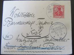 Brief 1906 Marine-Schiffspost An Burschenschaft Teutonia Kiel - Deutschland