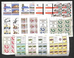 LOTTI E COLLEZIONI - Europa Cept - 1972/1983 - Insieme Di 15 Minifogli Emessi Nel Periodo - Gomma Integra (105) - Non Classificati