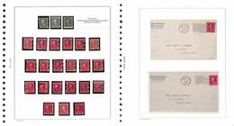 LOTTI E COLLEZIONI - Stati Uniti - 1909/1914 - Lotto Di 24 Francobolli E 2 Lettere Con Dentellature Tipo Shermak O Mail  - Non Classificati