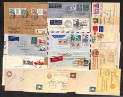 LOTTI E COLLEZIONI - Svizzera - 1895/1956 - Lotto Di 19 Oggetti Postali Del Periodo - Interi Postali Nuovi E Usati/racco - Non Classificati