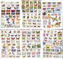 LOTTI E COLLEZIONI - Mondiale - Tematica Farfalle - Oltre 800 Pezzi In Serie E Spezzature Di Diversi Paesi In Un Album A - Non Classificati