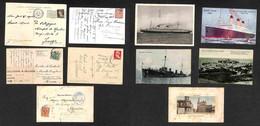 LOTTI E COLLEZIONI - Cartoline - Navigazione - Lotto Di 5 Cartoline Con Annulli Di Navi E Piroscafi - Da Esaminare - Non Classificati