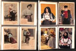 LOTTI E COLLEZIONI - Usi E Costumi - Lotto Di Più Di 170 Cartoline Nuove E Usate In Grande Album Raccoglitore - Interess - Non Classificati