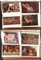 LOTTI E COLLEZIONI - Erotismo - Lotto Di Oltre 200 Cartoline Illustrate Ed Alcune Fotografiche - In Grande Album - Inter - Non Classificati