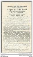 HERBEUMONT ..-- Mme Eugénie DELEAU , épouse De Mr Désiré PONCIN , Née En 1894 , Décédée En 1946 à CHASSEPIERRE . - Herbeumont