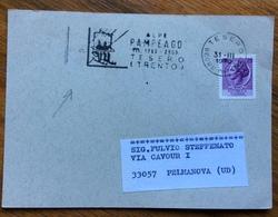 SPORT INVERNALI   ALPE PAMPEAGO  TESERO TRENTO  31/3/1970  Annullo Speciale Su Cartolina - Sci
