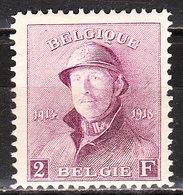 176*  Roi Albert Casqué - LA Bonne Valeur - MH* - LOOK!!!! - 1919-1920 Trench Helmet