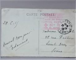 Cachet Hopital Auxiliaire N°8 Grenoble Lycée Jeunes Filles 1915 Cp Concours De Saut 2 Scans - Postmark Collection (Covers)