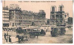 75  PARIS NOTRE DAME  ET QUAI  SAINT MICHEL TBE   PA02 - Notre Dame De Paris