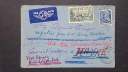 Lettre De Quimper Janvier 1940 Pour Curaçao Redirigé Sur Trinidad Port Of Spain Puis Le Havre 27 Mars 1940 Voir Scans - Postmark Collection (Covers)