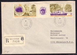 ANTARCTIC,TAAF,d'URVILLE,Registred-FDC  1991, Nice Stamps, Look Scan !! 7.6-53 - Non Classés