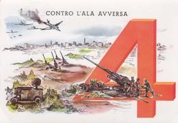 4° REGGIMENTO ARTIGLIERIA CONTRAEREI PESANTE  /   Viaggiata - Reggimenti