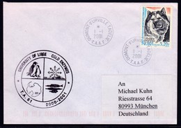 "ANTARCTIC,BELGIUM/TAAF,d'URVILLE,Cachet: ""COLD ENZYMES"" Uni Liege,2001, Nice Stamp, Look Scan !! 7.6-41 - Autres"