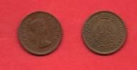 SOUTH AFRICA, 1956,  Circulated Coin, 1/4 Pence,  Elizabeth II, Bronze, Km44  C 1387 - Zuid-Afrika